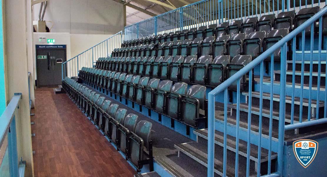 Seating area at Platt Lane Sports Complex
